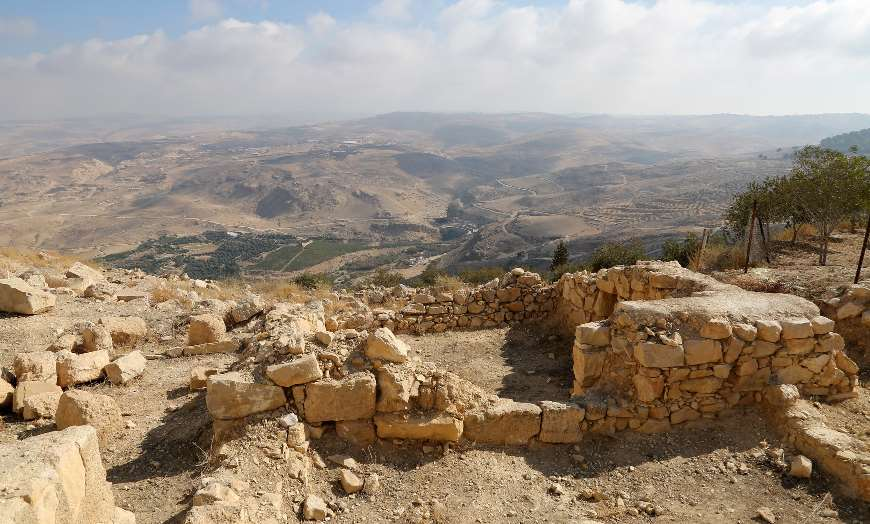 Views from the religious remains of Mount Nebo in Jordan