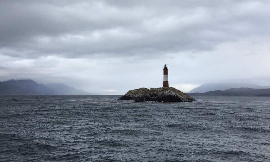 Les Eclaireurs Lighthouse in the Beagle Channel close to Ushuaia in Argentina