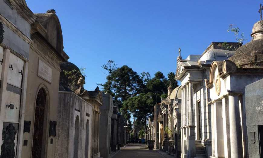 Grand mausoleums of La Recoleta Cemetery in Buenos Aires