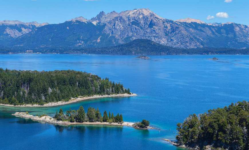 View of Victoria Island set in Lago Nahuel Huapi in Argentina