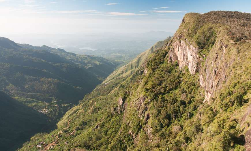 View from Worlds End in the Horton Plains Sri Lanka