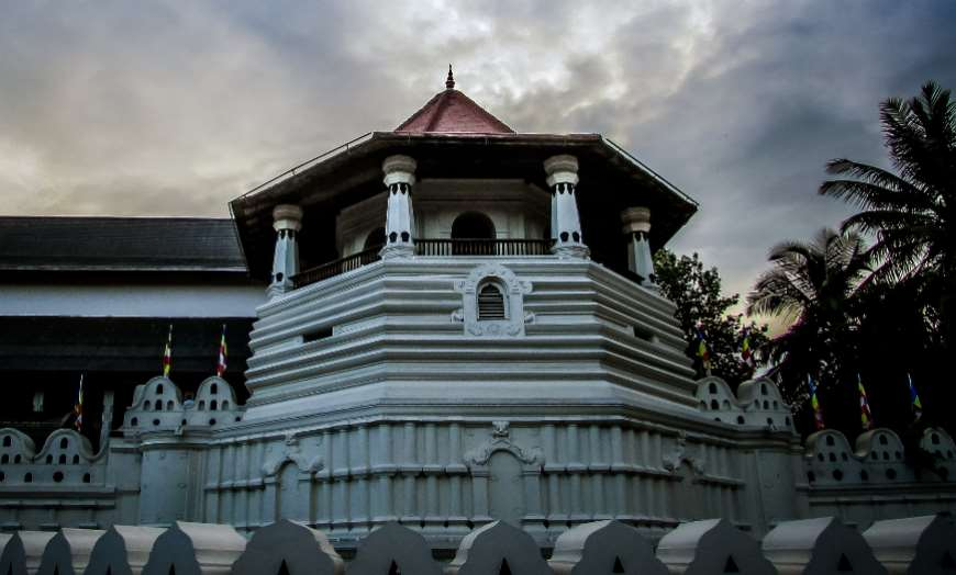 Temple of the Sacred Tooth in Kandy Sri Lanka