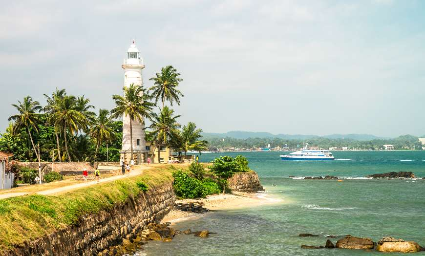 Galle Fort Lighthouse Beach in Sri Lanka
