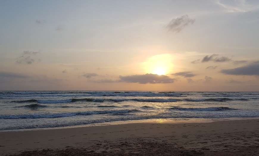 Sunset at a beach in Sri Lanka