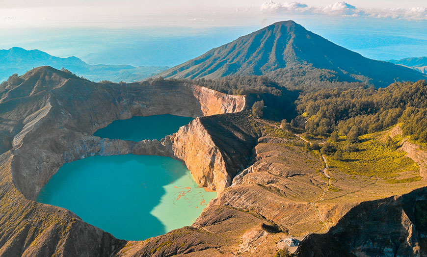 Mount Kelimutu in Flores, Indonesia