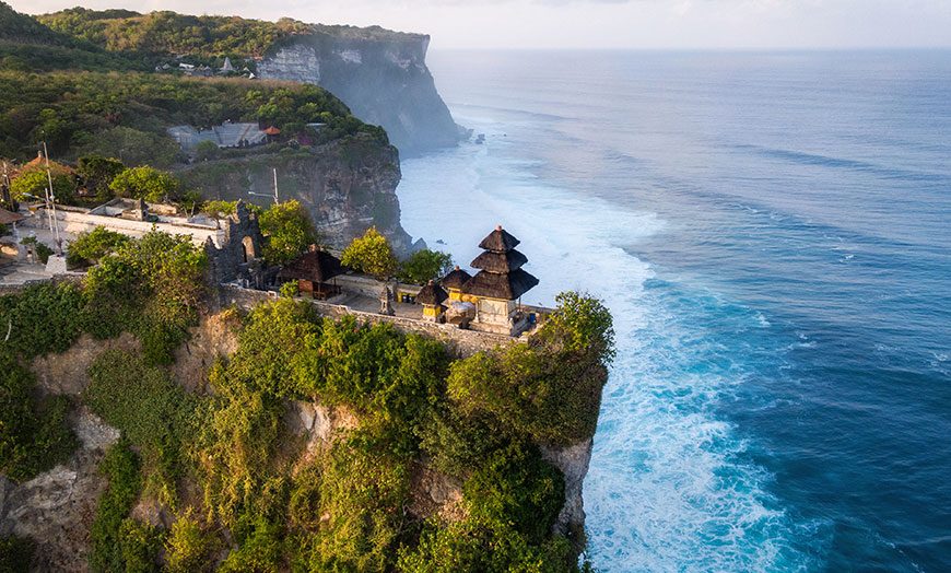Uluwatu Sea Temple in Bali, Indonesia