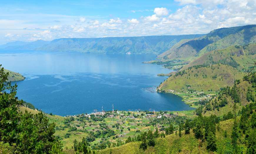 Lake Toba in Sumatra