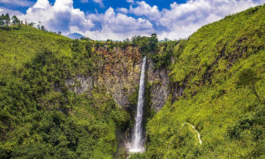 Sipiso-Piso Waterfall in Sumatra, Indonesia