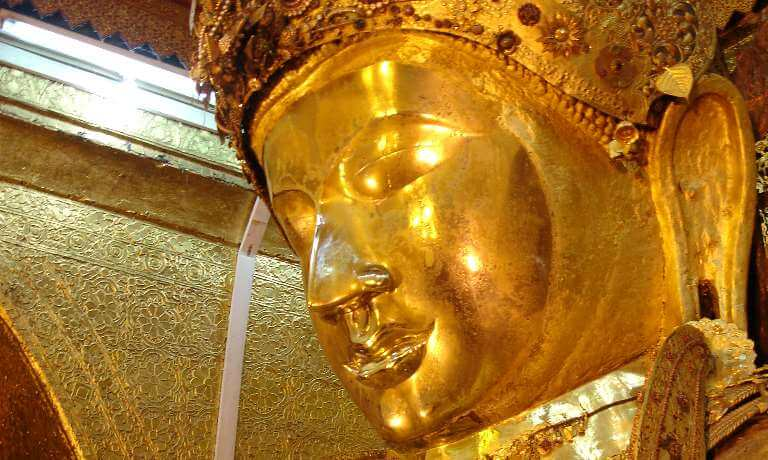 Golden Buddha image in Mandalay