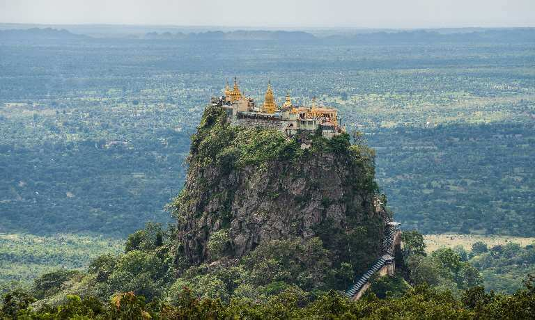 Mountain top temple in Burma