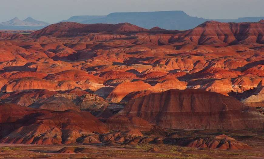 Red hues of the Painted Desert in Indian Wells, Arizona