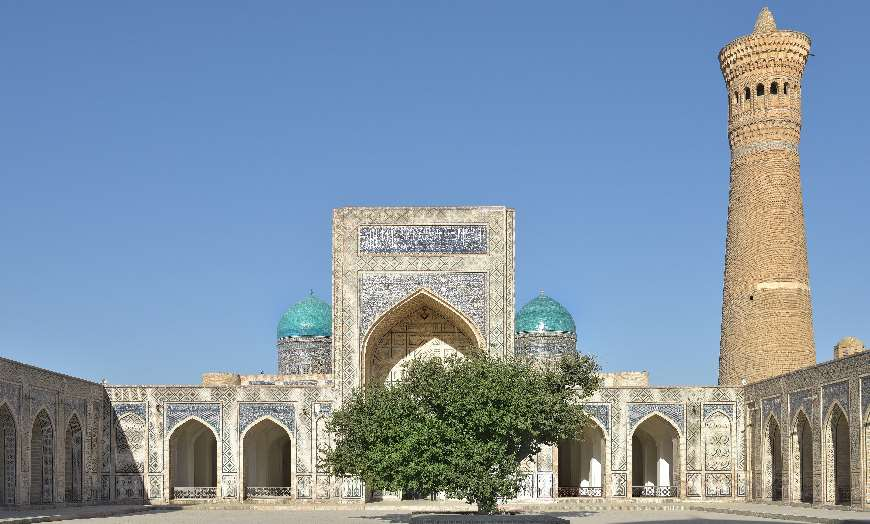 Po-i-Kalyan and the Kalyan Minaret in Bukhara, Uzbekistan