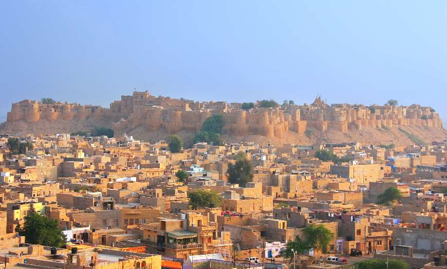 View of Jaisalmer Fort in Rajasthan