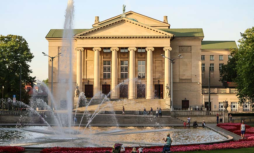 Exterior of the Teatr Wielki in Warsaw