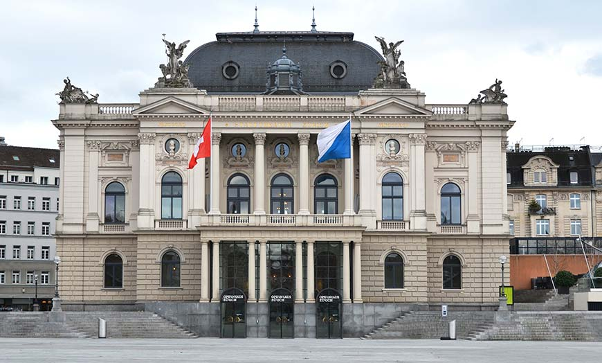Exterior of the Zurich Opera House
