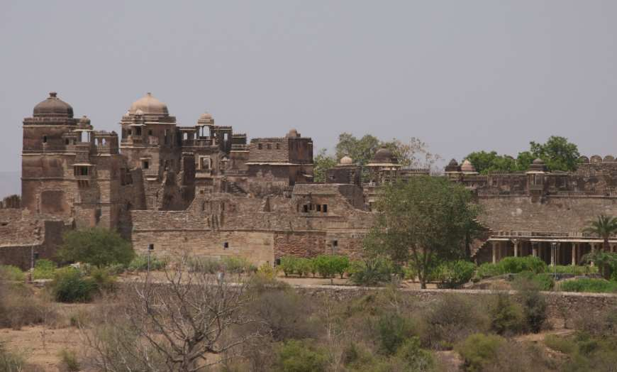 Panoramic view of Chittorgarh Fort in Rajasthan