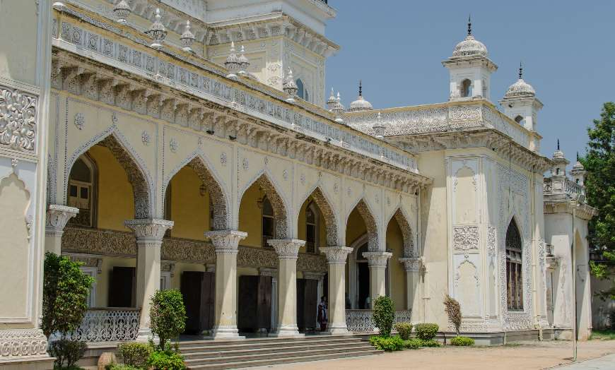 Ornate facade of the Chowmahalla Palace in Hyderabad