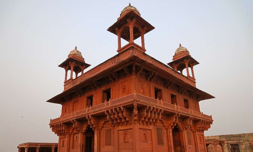 Red sandstone building at Fatehpur Sikri in India