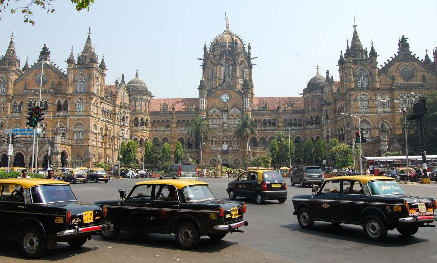 Gothic Victorian architecture of CST Station in Mumbai