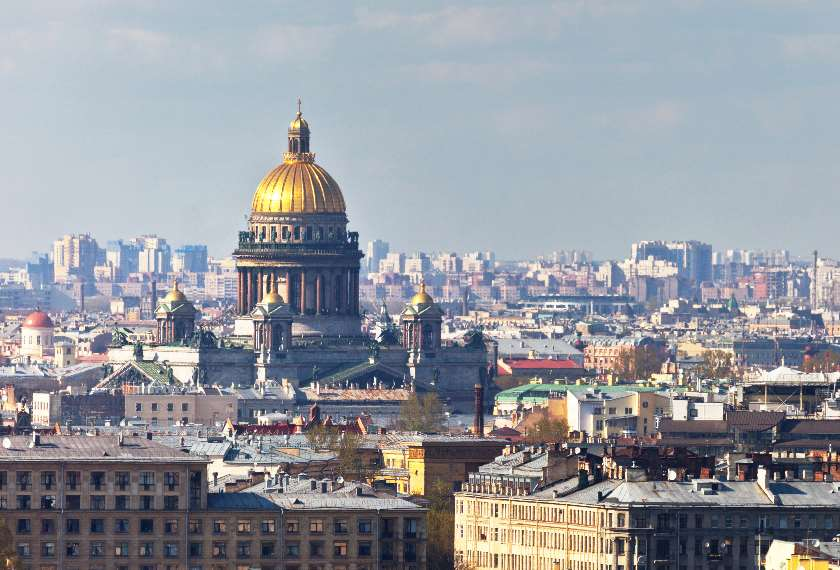 View of St Petersburg and the Dome of St Isaac's Cathedral