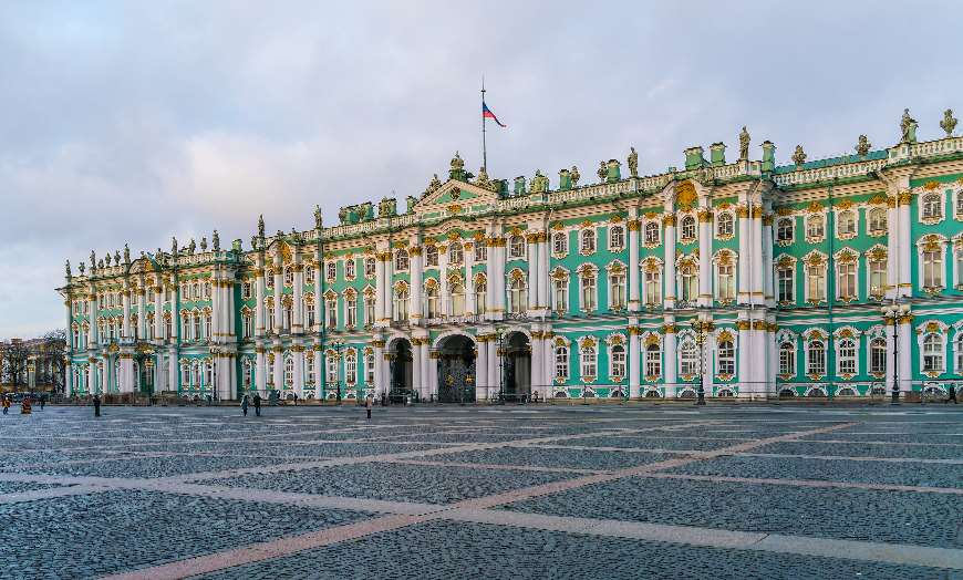 Winter Palace Hermitage in St Petersburg Russia