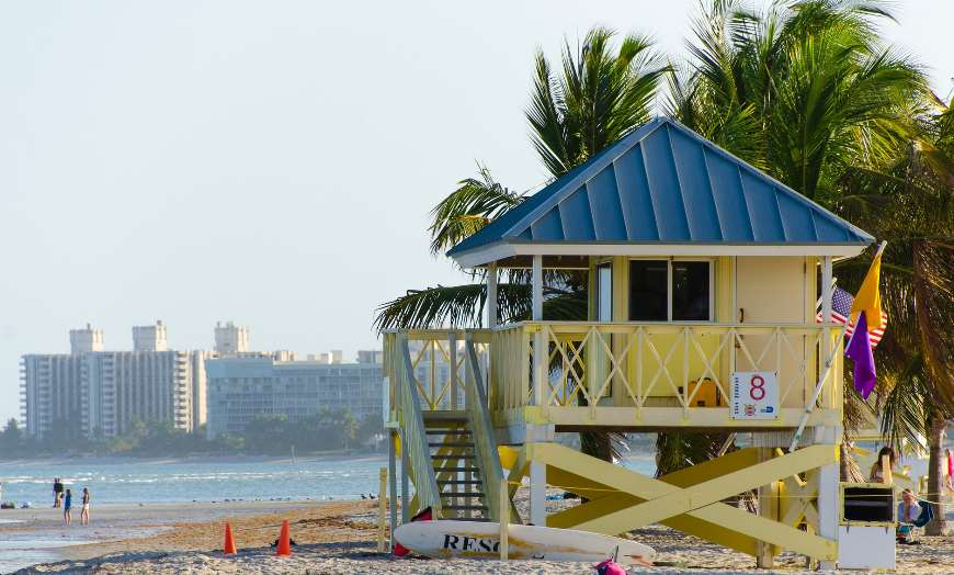 South Beach Miami Beach Hut Florida USA