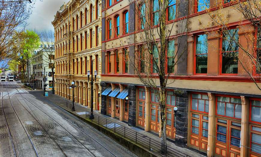 Portland Old Buildings Oregon USA