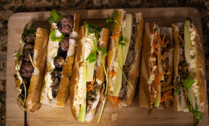 Banh Mi Filled French Baguettes Vietnam