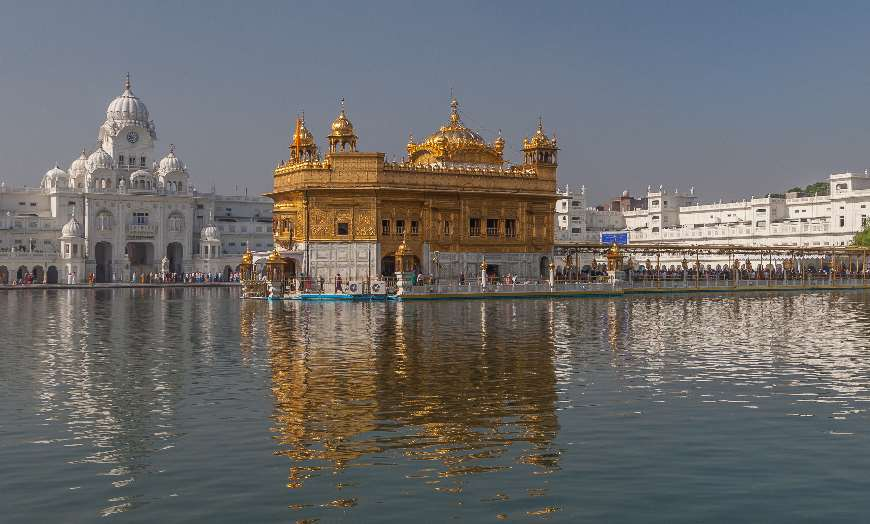 Gold roofed Golden Temple in Amritsar India