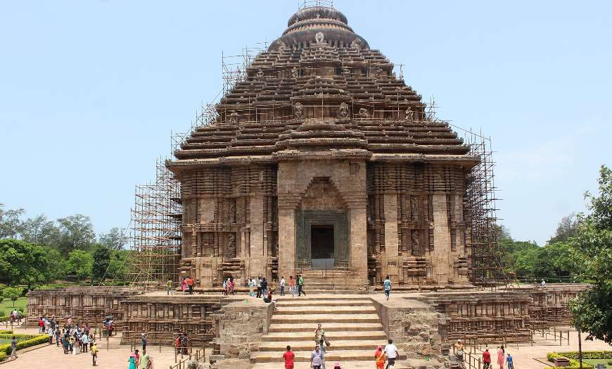 View of the ancient stone-carved Sun Temple in Konark