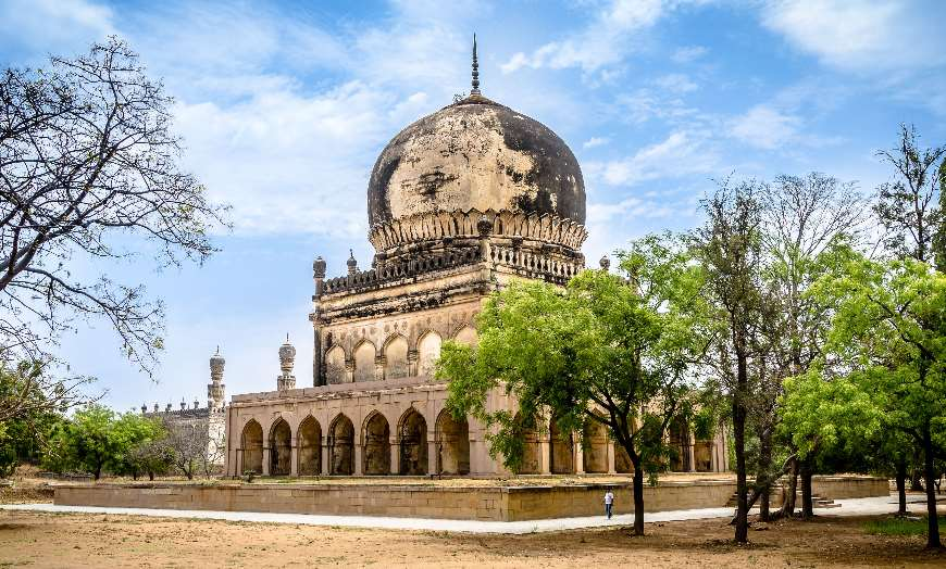 Islamic architecture of the Qutb Shahi Tombs in Hyderabad, India