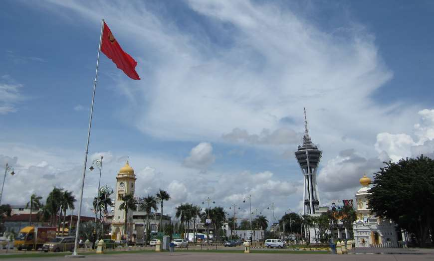 View of the modern and historic architecture of Alor Setar, Malaysia