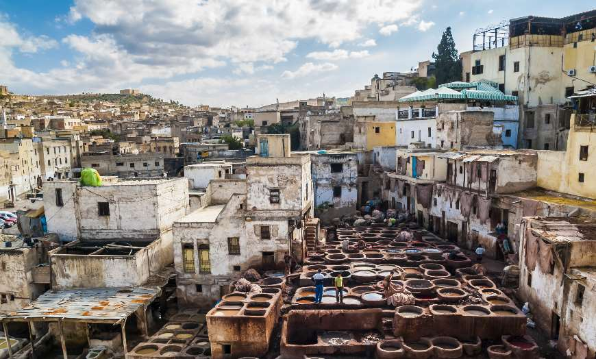 tanneries fes morocco