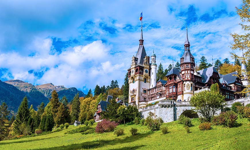 Peles Castle close to the town of Sinaia in Romania