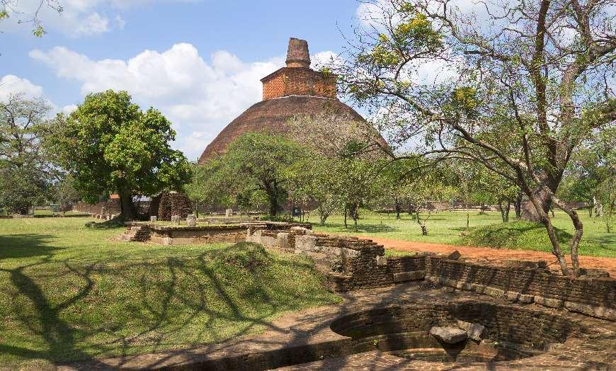 Anuradhapura Ancient Dagoba in Sri Lanka