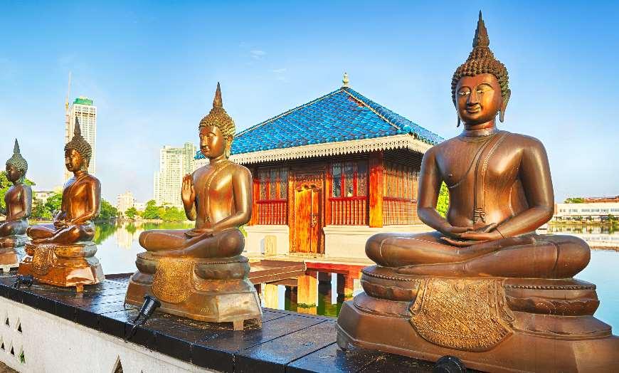 Seema Malaka Temple on Beira Lake in Colombo Sri Lanka