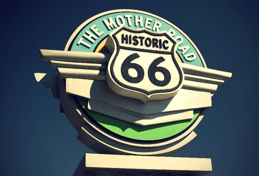Route 66 iconic sign