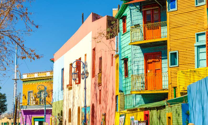 Colourful Caminto Street Buenos Aires Argentina