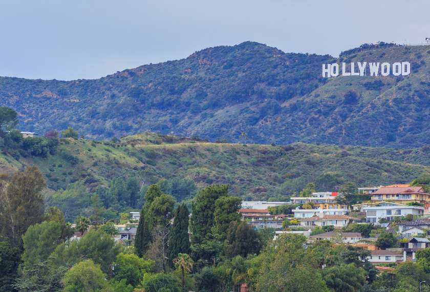 Iconic Hollywood sign in Los Angeles
