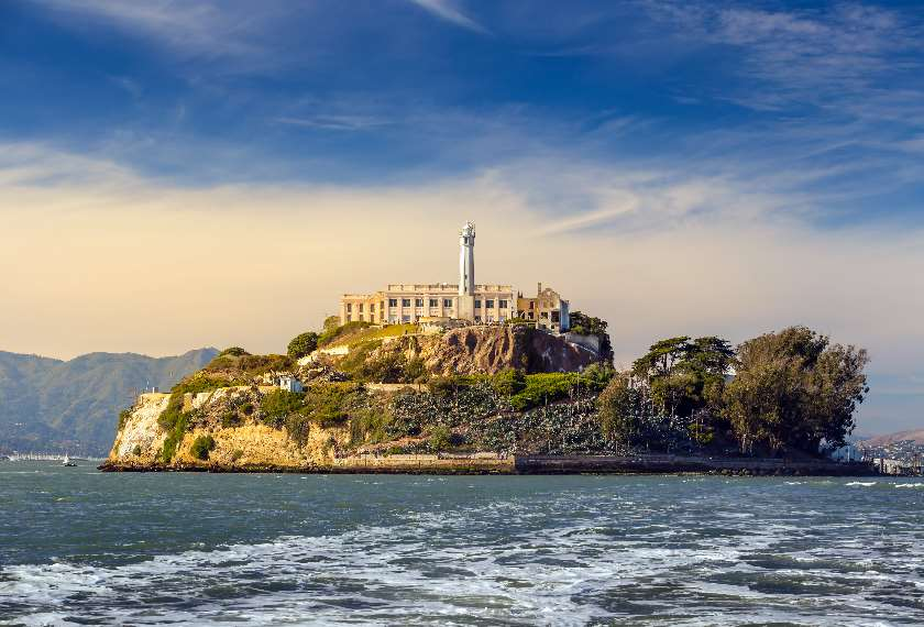 View of Alcatraz Island in the San Francisco Bay