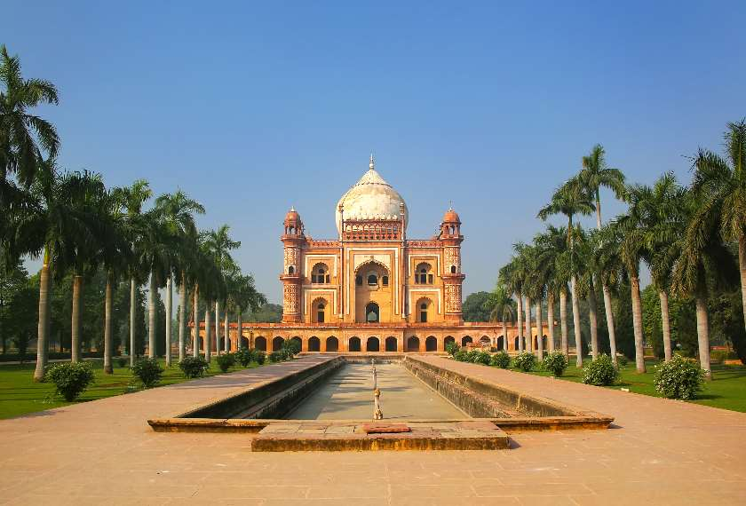 View of the Tomb of Safdarjung in New Delhi, India