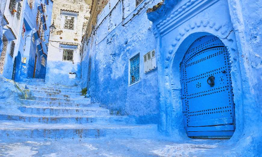 Chefchaouen Streets Medina Blue City of Morocco