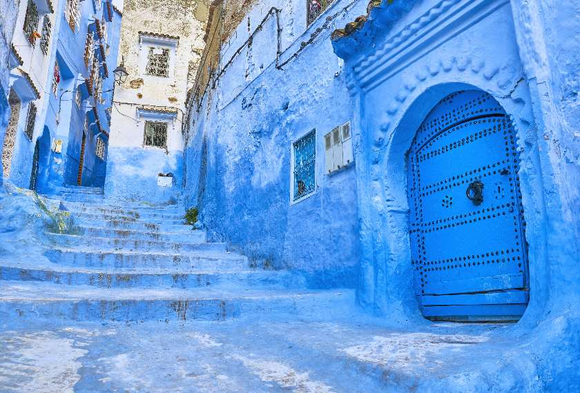 Blue painted Medina of Chefchaouen in Morocco