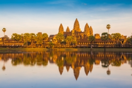 View of Angkor Wat in Siem Reap, Cambodia