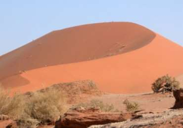 Large sand dunes of Sossusvlei in Namibia