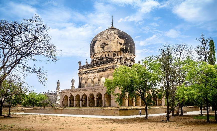 View of the Qutb Shahi tombs close to Hyderabad, India