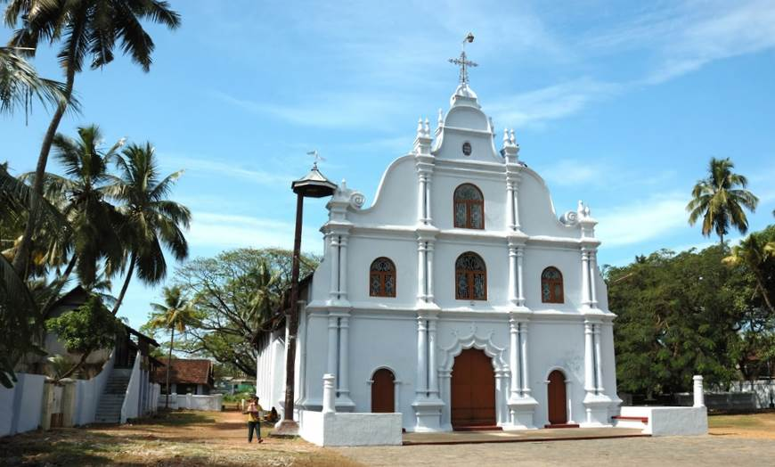 View of St Francis Church in Fort Kochi, Kerala