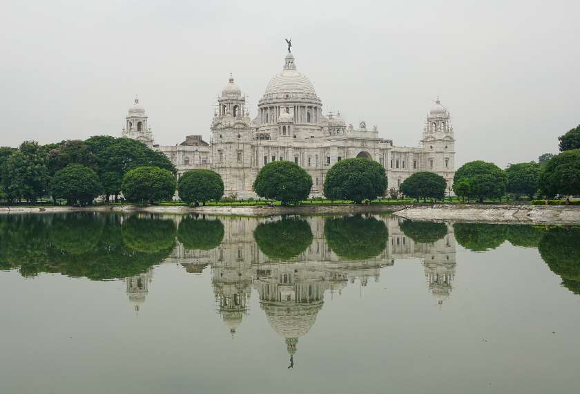 View of the Victoria Memorial in Kolkata