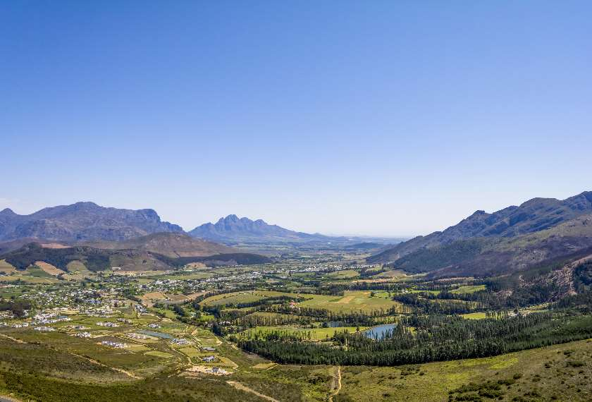 Franschoek Wine Region in South Africa