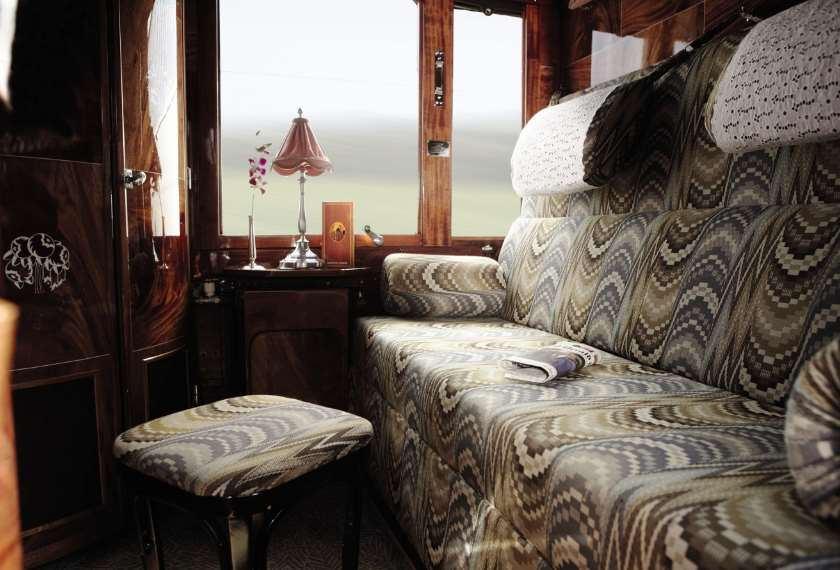 Cabin interior on the Venice Simplon Orient Express